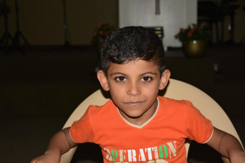 Malek is a 7 year old boy from Syria who is now in kindergarten.