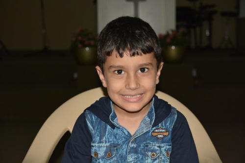 Mouad is a 7 yr. old boy from a Syrian family with 5 boys.