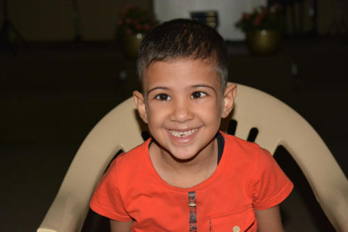 Mouatassam is a 6yr. Old from a Syrian family with 5 boys