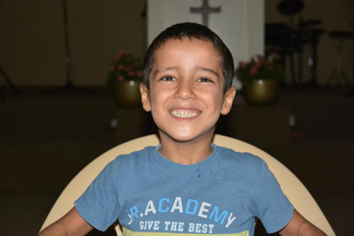 Eyad is a 6 yr. old refugee from Syria.  He is full of life!